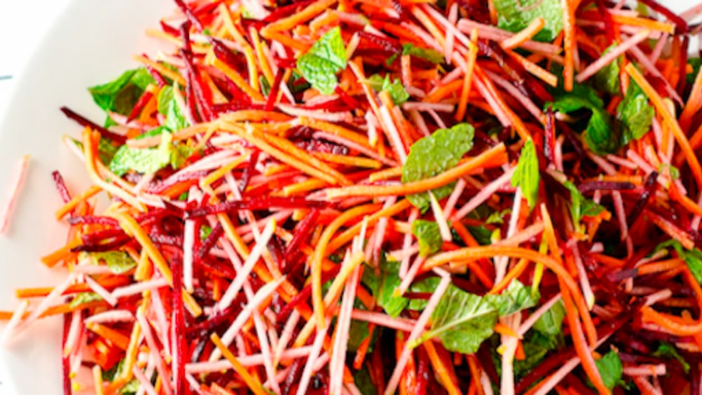 Image ofBeetroot, Carrot and Apple Salad with Mint