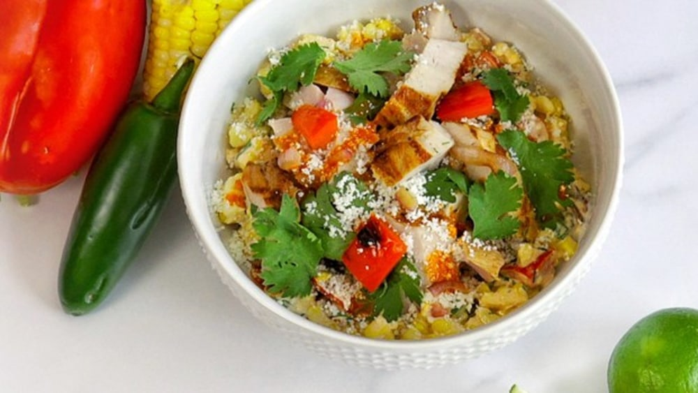 Image ofGrilled Mesquite Pork Loin Bowl with Smoky Chipotle Corn