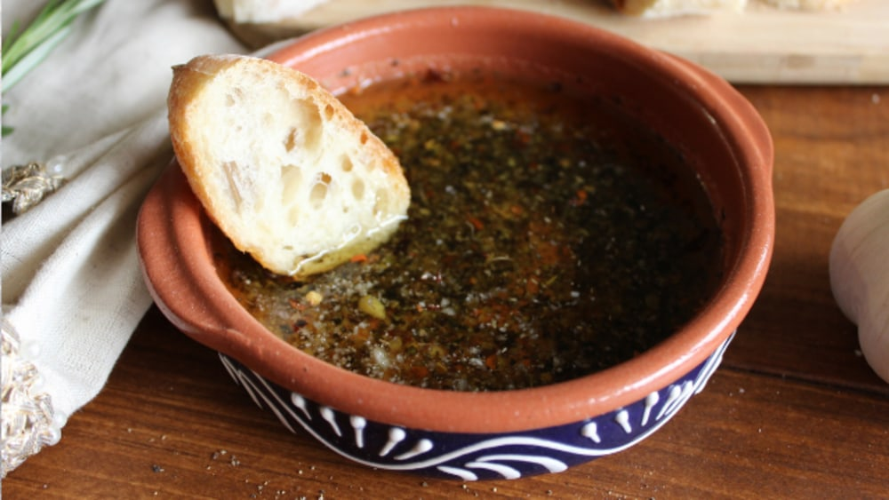 Image of Olive Oil with Roasted Garlic Dip