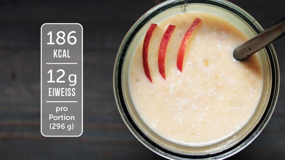 Image of Eiweiß-Shake mit Apfel und Ingwer