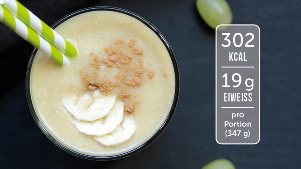 Image of Eiweiß-Shake mit Banane und Traube