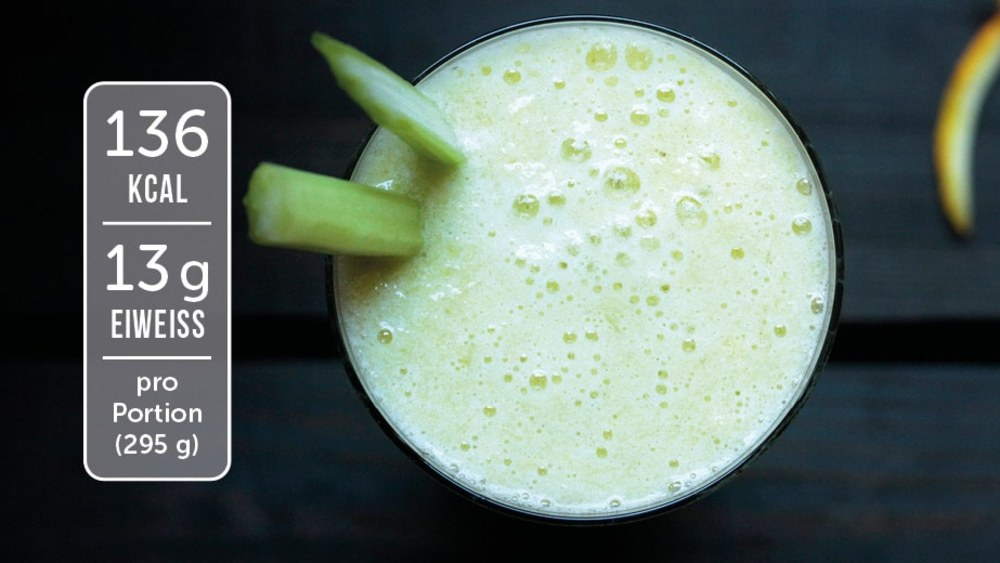 Image of Eiweiß-Shake mit Sellerie und Orange