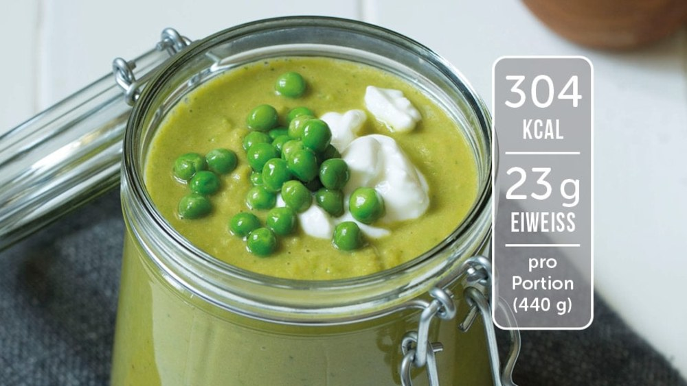 Image of Erbsen-Suppe mit Süßkartoffel