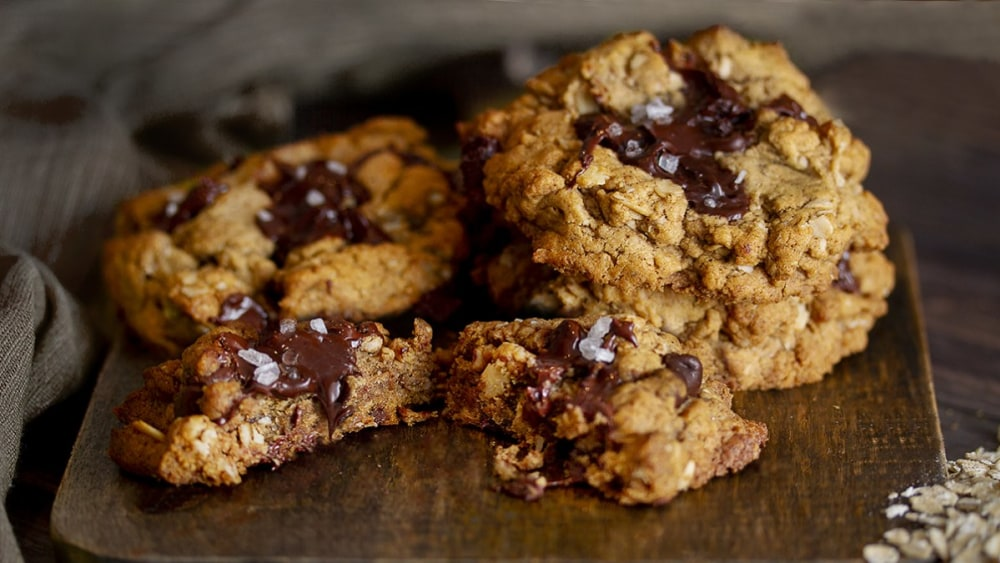 Image of Biscuits avoine, tahini et pépites de chocolat