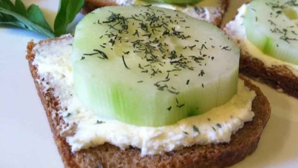 Image ofBitesize Cucumber Sandwiches