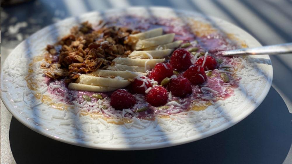 Image of Banana Granola with coconut, cinnamon, nutmeg and walnuts