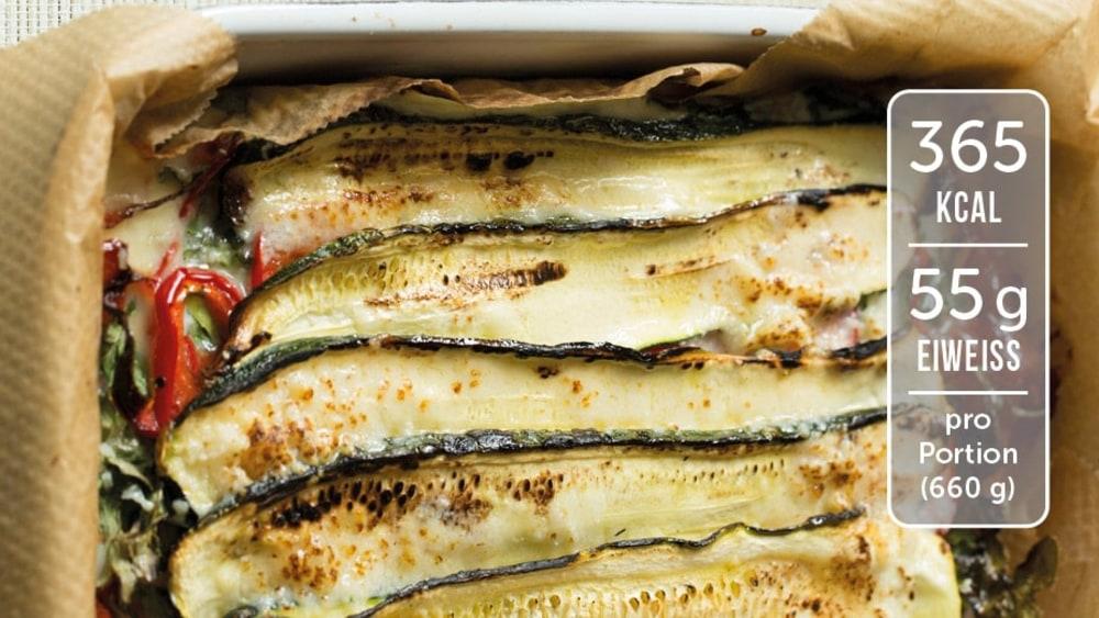 Image of Zucchiniauflauf mit Schinken