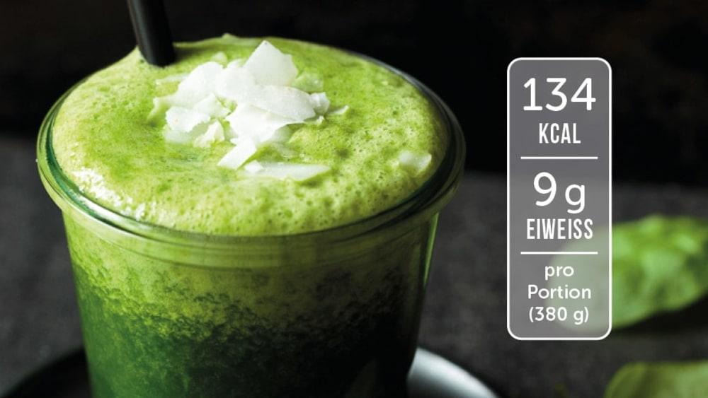 Image of Eiweiß-Shake mit Spinat und Banane