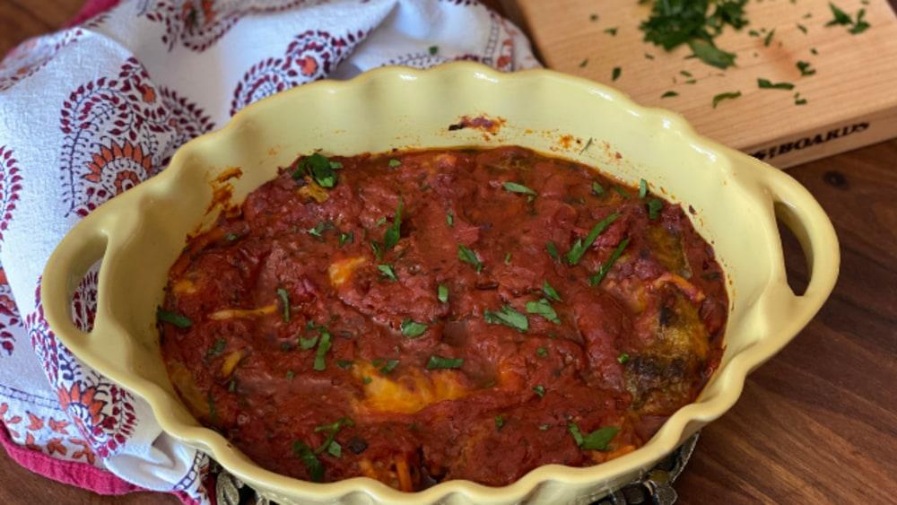 Image of Easy Gyoza Stuffed Cabbage