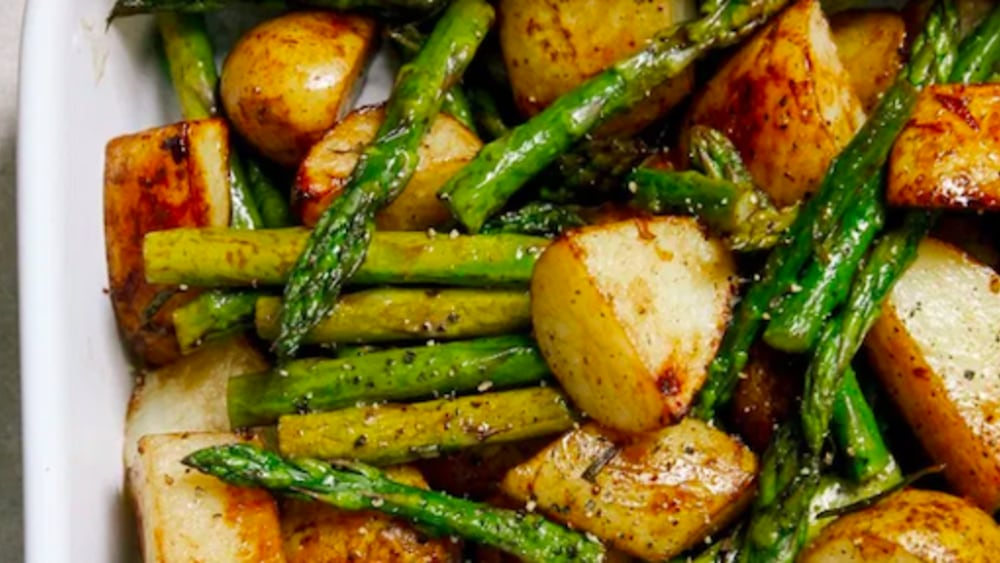Image ofBalsamic Roast Potatoes and Asparagus