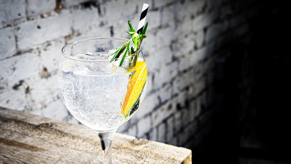 Image of Mediterranean Gin and Tonic with Rosemary and Orange