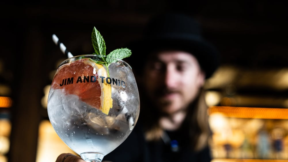 Image of Gin and Tonic with Pink Grapefruit & Mint