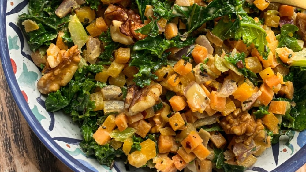 Image ofHoliday Hash Salad with Maple Tahini Dressing