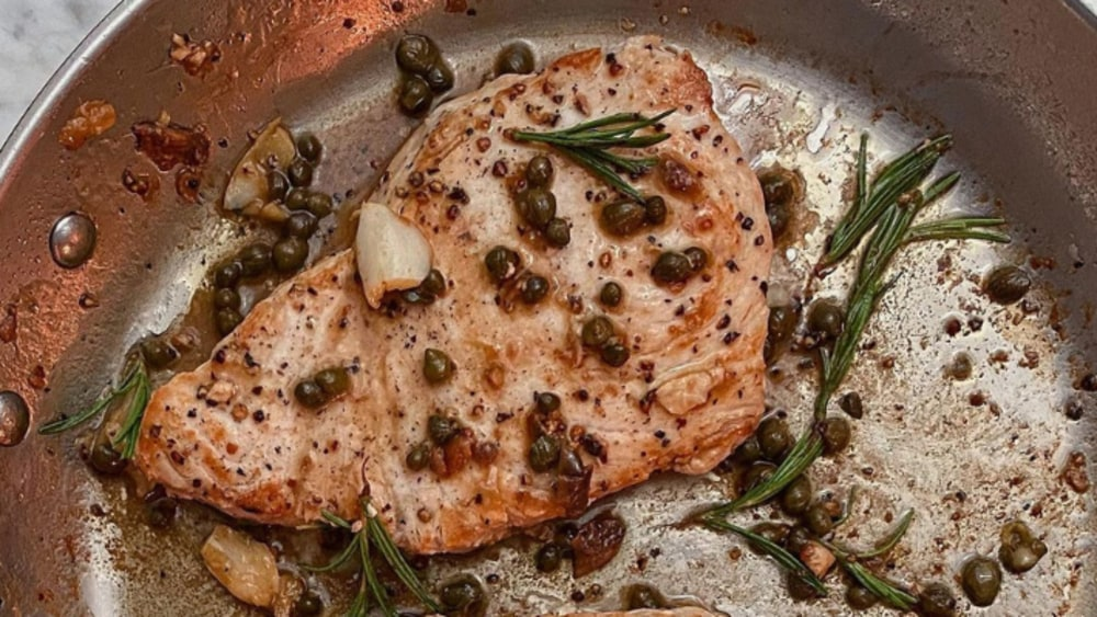 Image of Swordfish Steaks with Crispy Capers