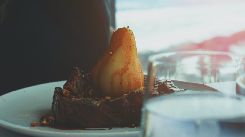 Image of Poached Coffee Vanilla Pears