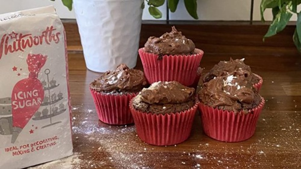 Image of Vegan Chocolate Cupcakes with Peanut Butter Icing