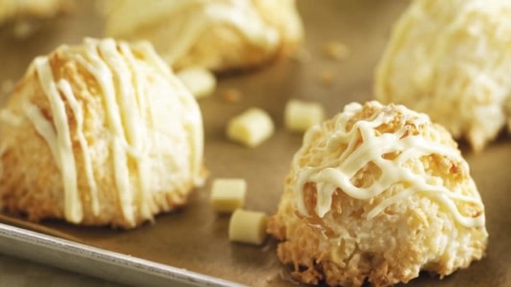 Image of Coconut & White Chocolate Macaroons