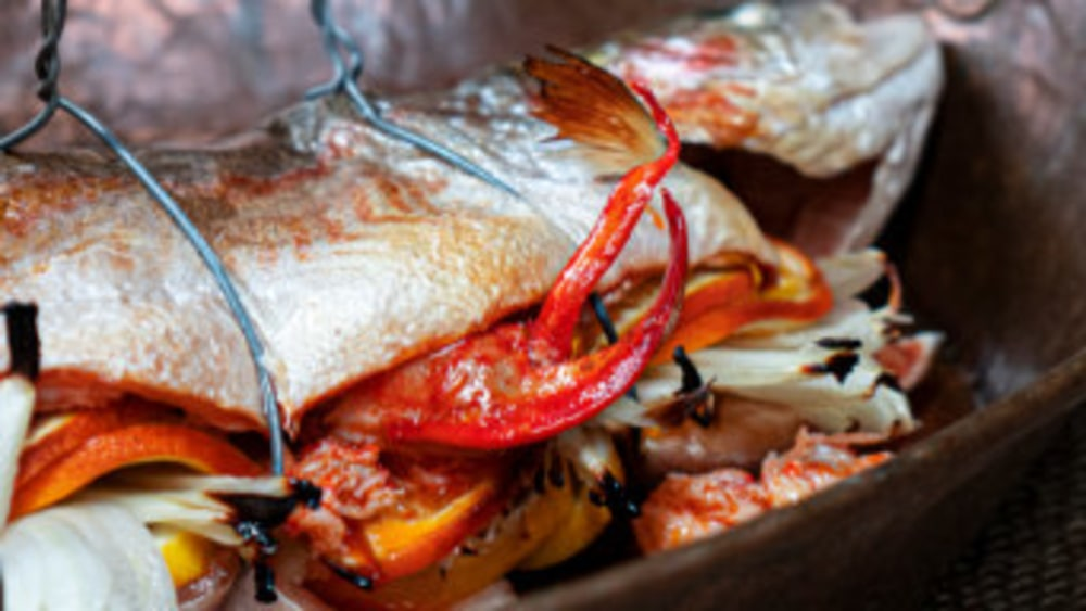 Image of Whole Stuffed Trout With Lobster And Citrus