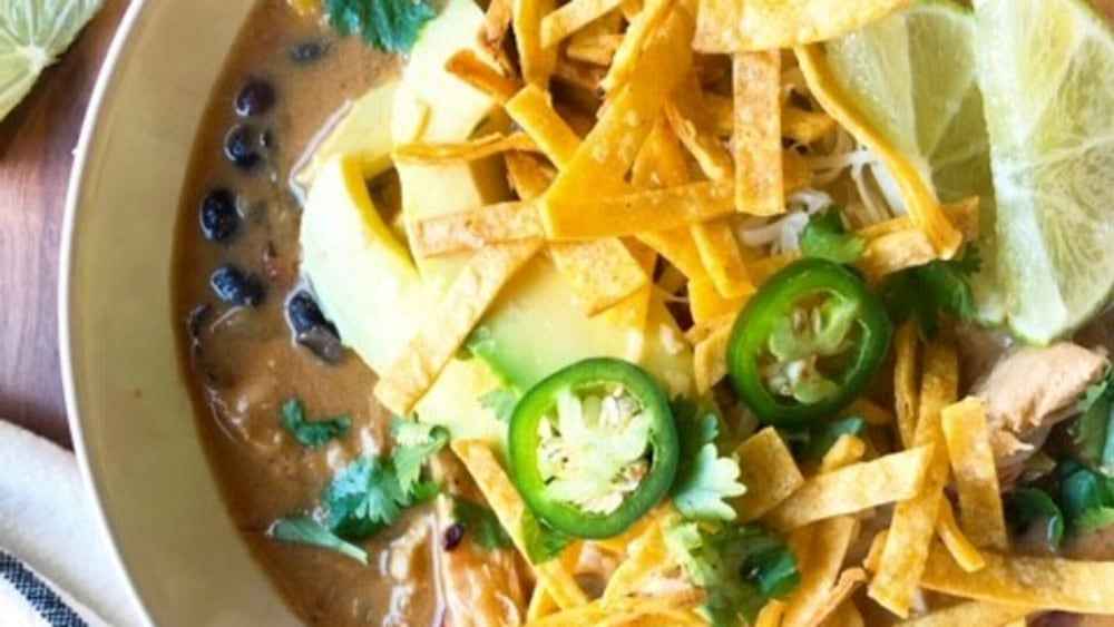 Image ofChicken Tortilla Soup with Air Fried Salty Lime Tortilla Strips