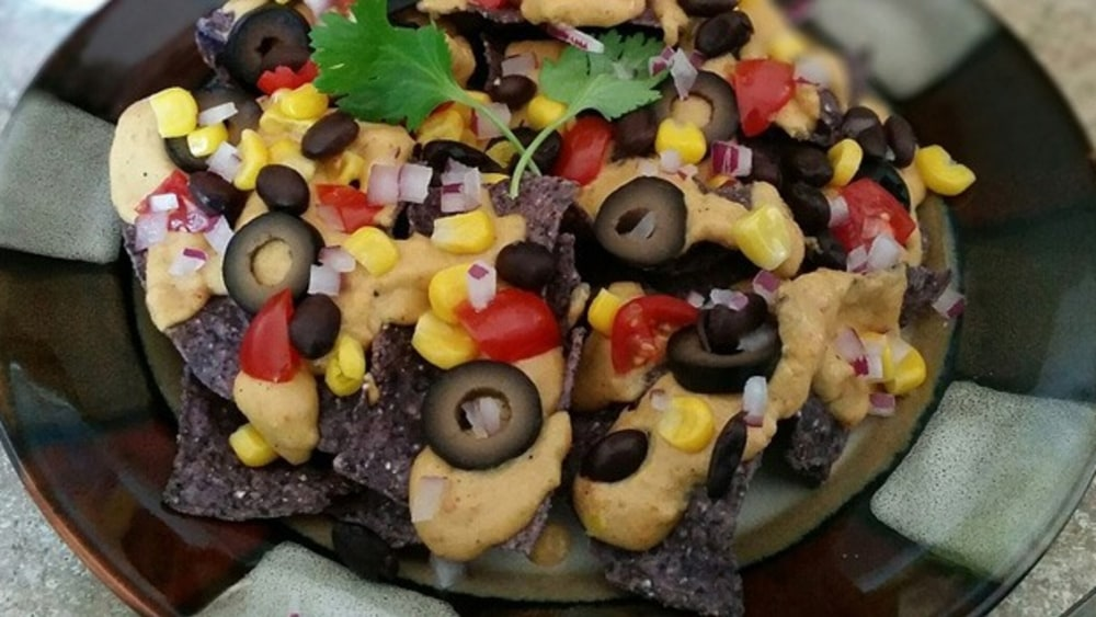 Image ofRed, White and Blue Nachos