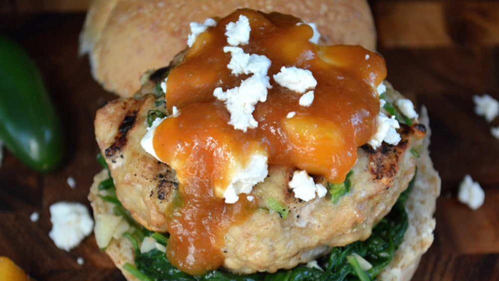 Image ofChicken & Peach Burger