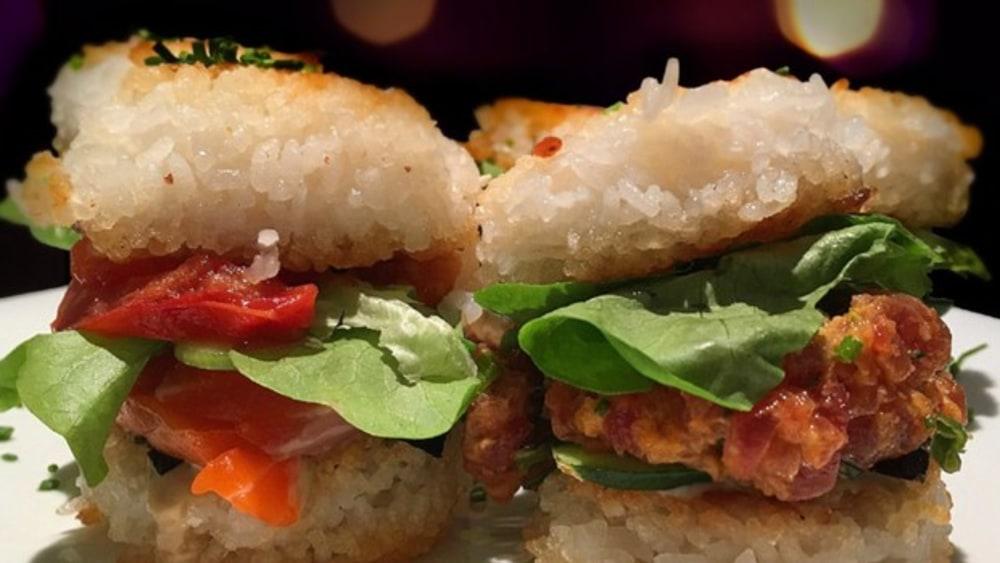 Image ofCrispy Rice Sushi Sliders
