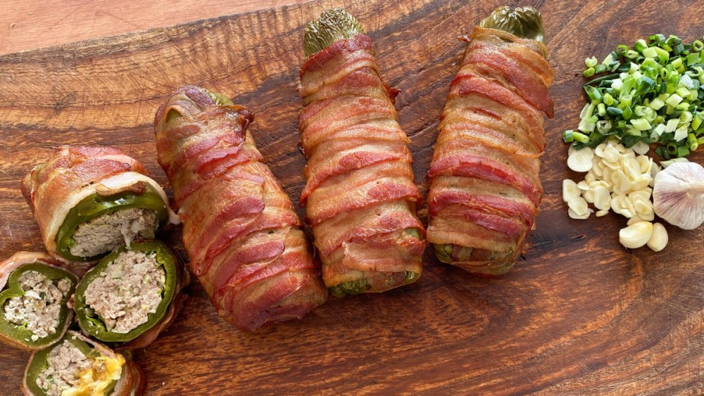 Image of Bacon Wrapped Burger Dogs