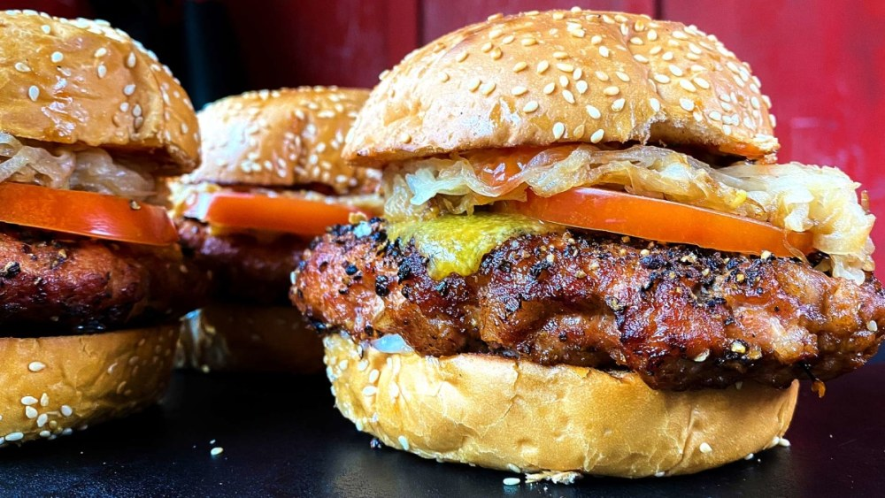 Image of Peppered Pork Bacon Butter Burger