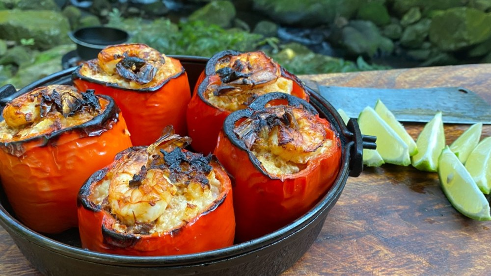 Image of Chipotle Shrimp Stuffed Peppers