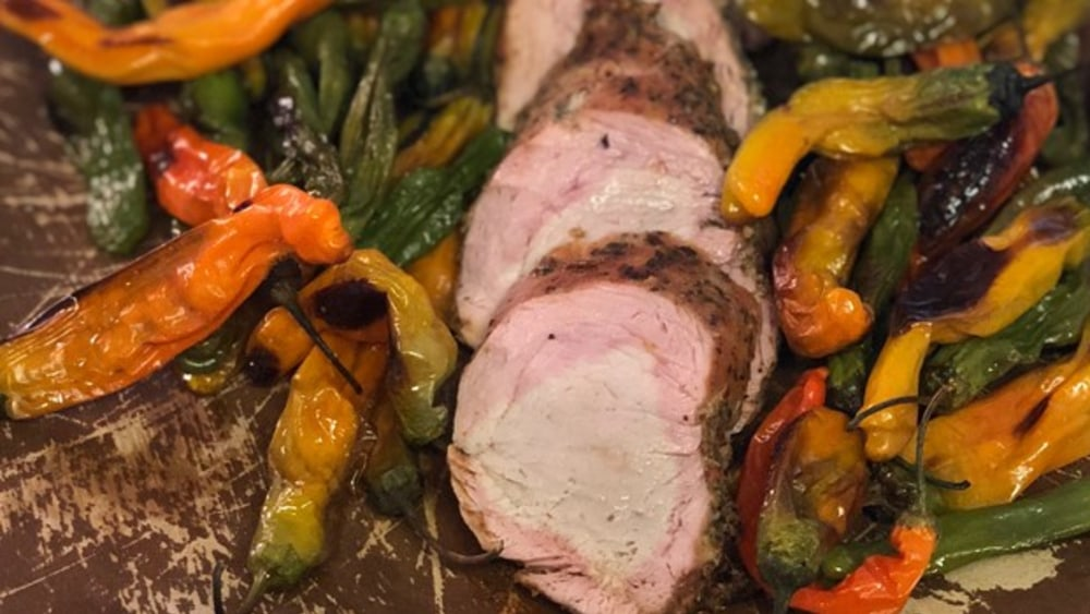 Image ofSmoked Pork Loin & Peppers