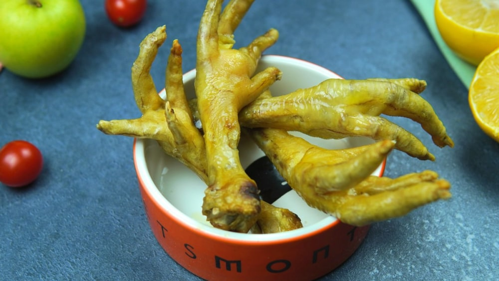 Image of DIY Air Fryer Chicken Feet for Dogs Recipe