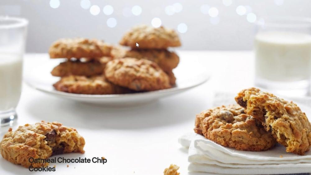 Image of Vegan Oatmeal Chocolate Chip Cookies