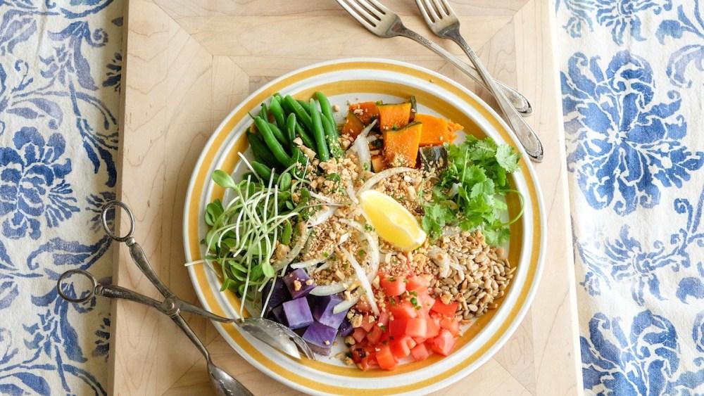 Image of Burmese Style Squash & Okinawan Sweet Potato Salad