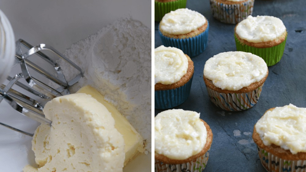 Image of Vanilla peach cupcakes with Apricot Honey Fromage Frosting