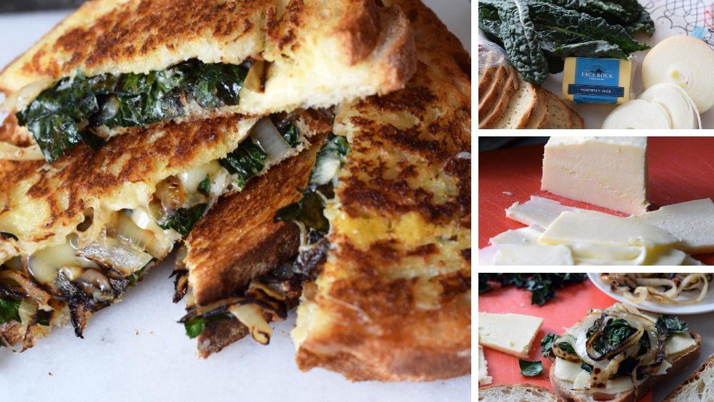 Image of Greened Up Monterey Jack Grilled Cheese