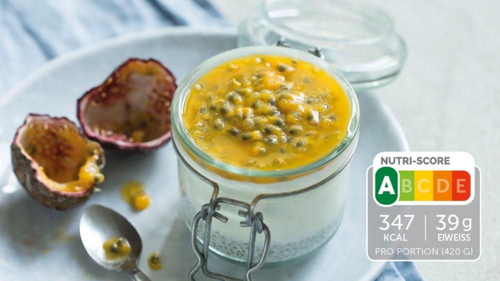 Image of Proteinreiche Frühstücksbowl mit Passionsfrucht