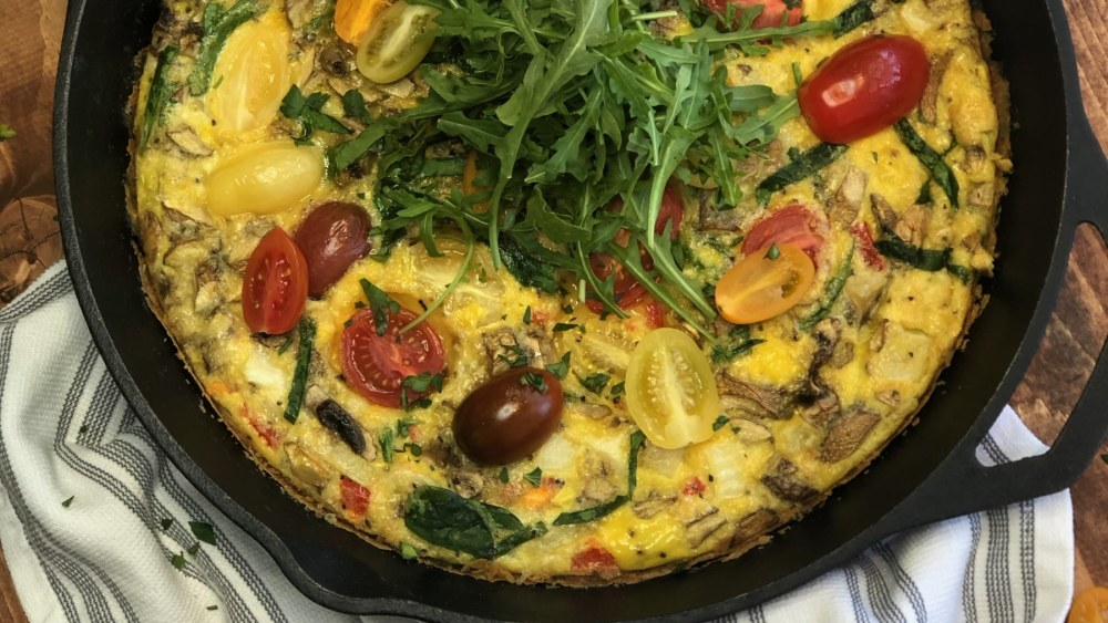 Image of STUCK AT HOME AND RUNNING OUT OF IDEAS FRITATTA