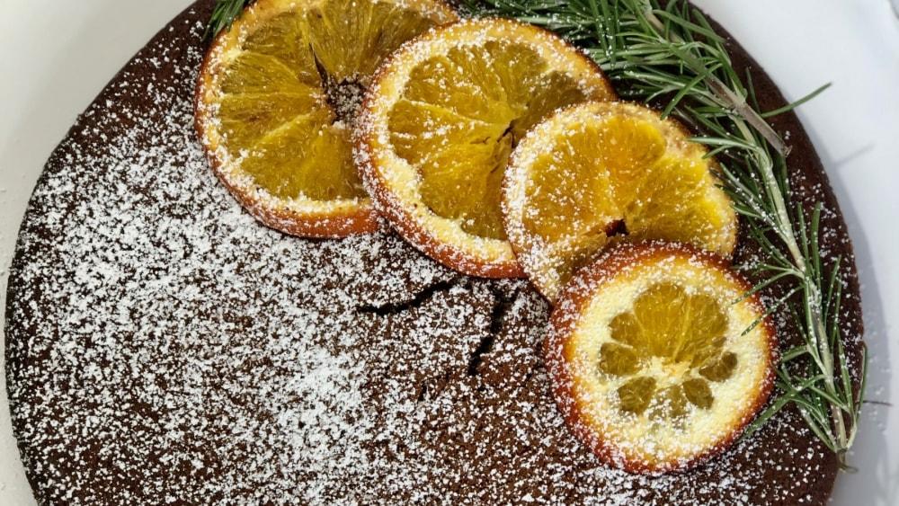 Image of ORANGE ZESTED OLIVE CAKE