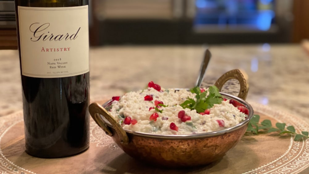 Image of Curd (Yogurt) Rice with Pomegranate Seeds