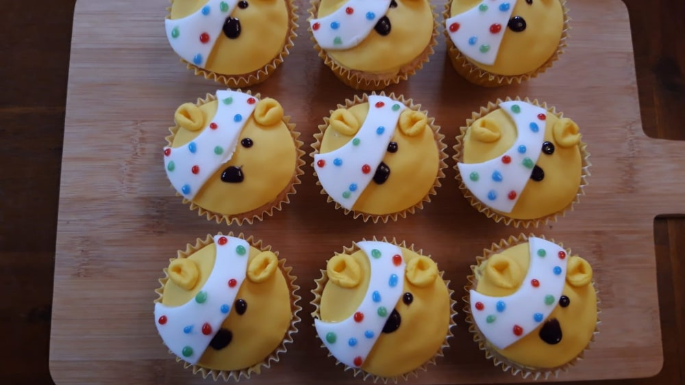 Image of Yummy Pudsey Bear Cupcakes