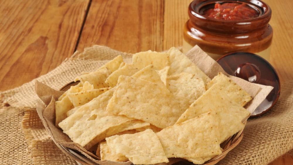 Homemade Tortilla Strip Chips