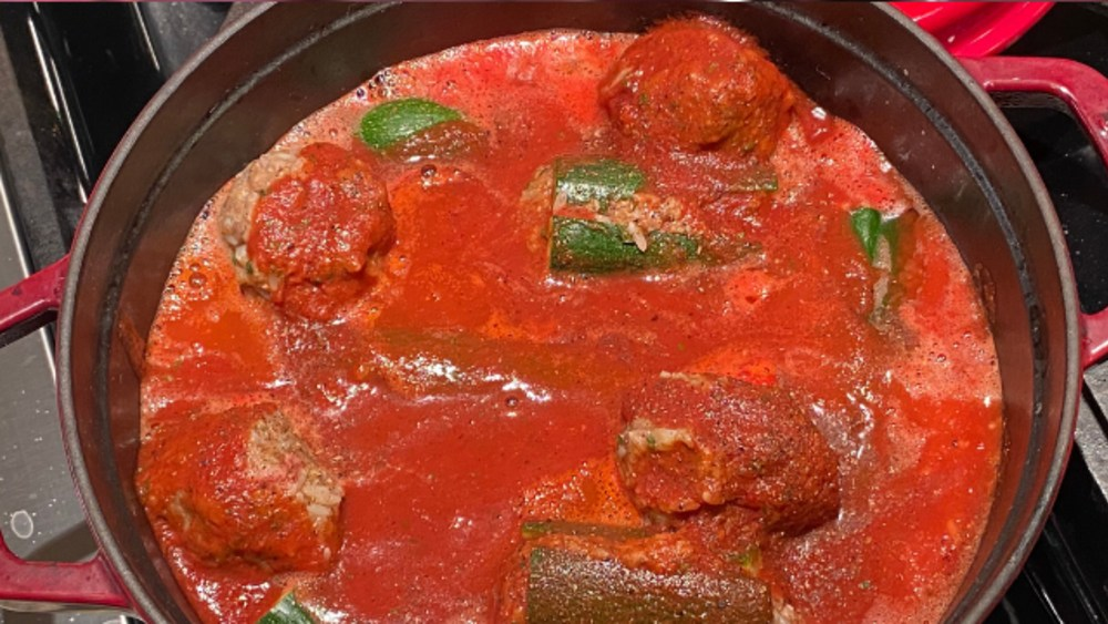 Image of Stuffed Zucchini with meat/rice -  Egyptian Style (Kousa Mahshi)