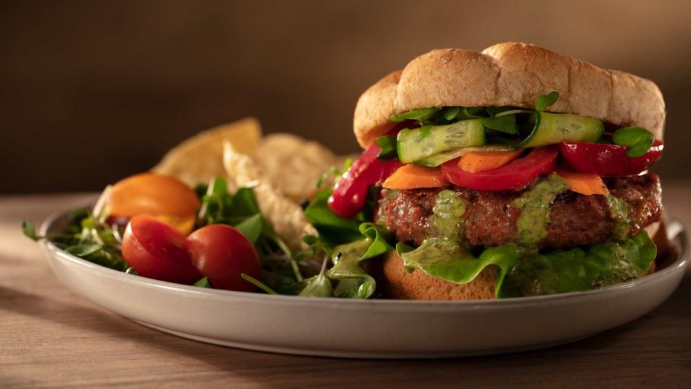 Image of Veggie Burger with Cilantro Mint oo'mämē Dressing