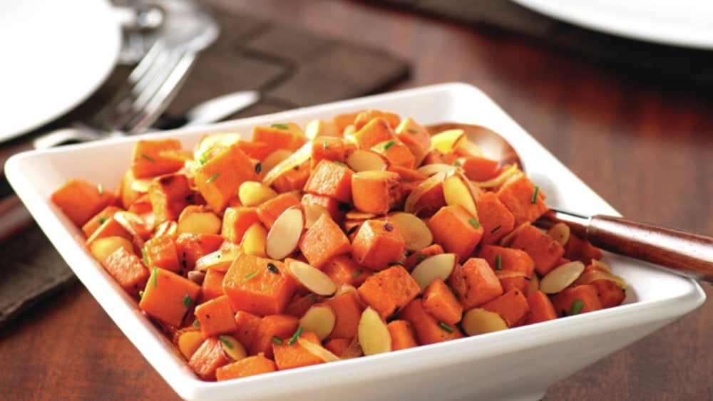 Image of Roasted Almond Sweet Potatoes