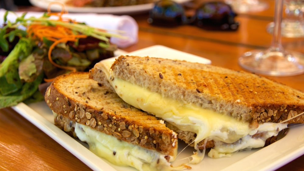 Image of Grilled Pecorino Cheese And Savory Almond Paste Sandwiches