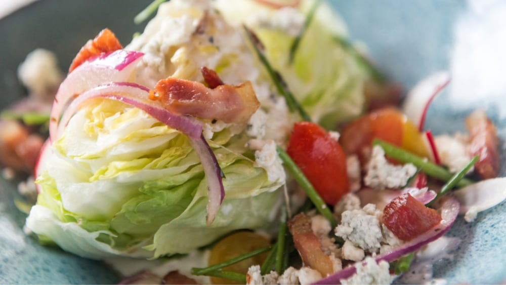 Image of Wedge Salad With Blue-Cheese, Apples & Toasted Almonds