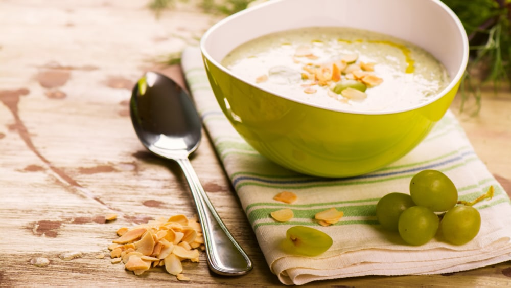 Image of Creamy Almond and Grape Soup