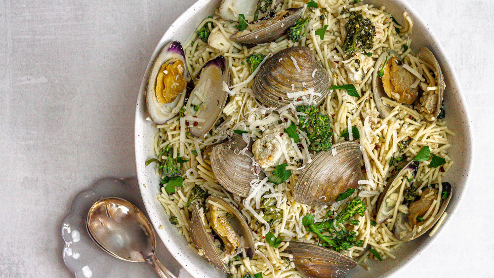 Image of Low FODMAP Spaghettini with Clams and White Fish