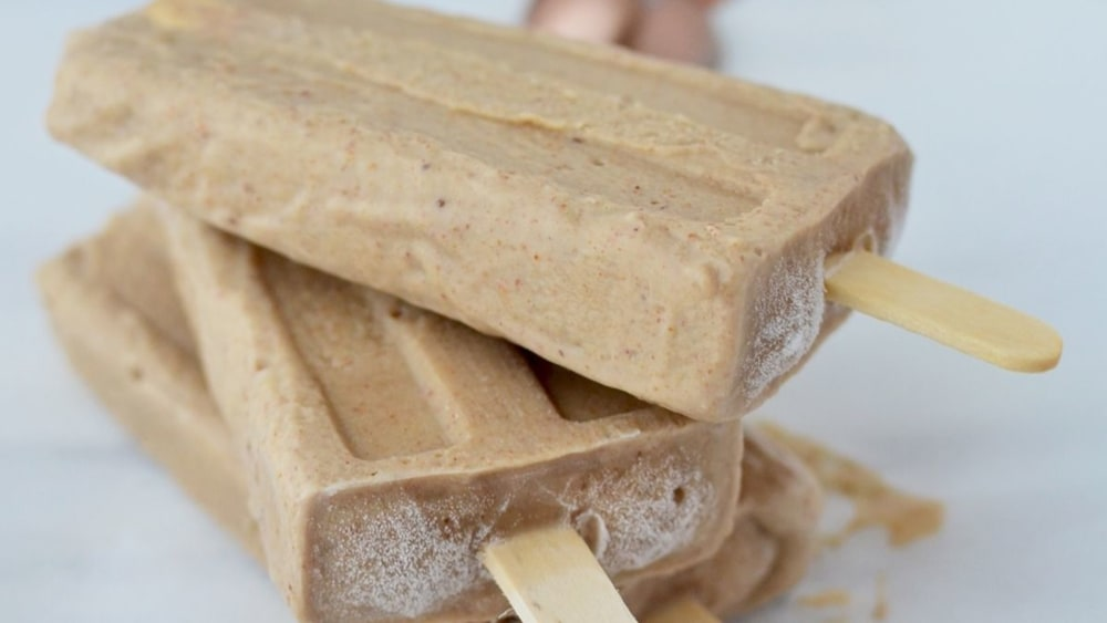 Image of Almond Butter Banana Popsicles