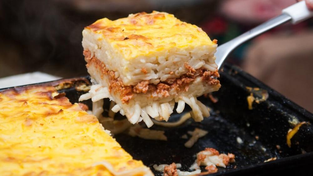 Image de la tarte aux spaghettis: recette de tarte aux spaghettis au fromage